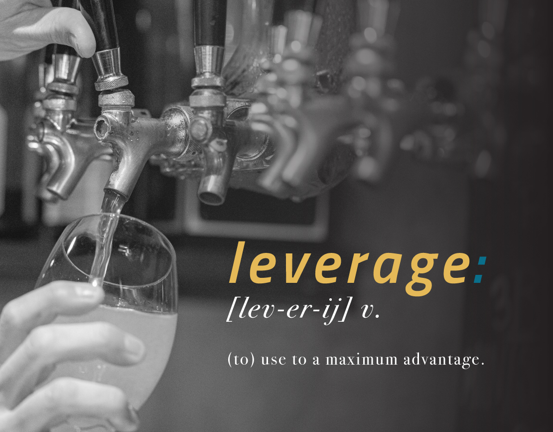 Leverage: to use to a maximum advantage.